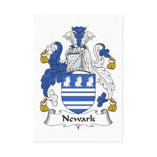Escudo de la familia de Newark Lona Envuelta Para Galerias