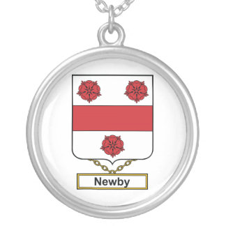 Escudo de la familia de Newby Colgante Redondo