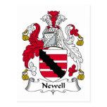 Escudo de la familia de Newell Postal
