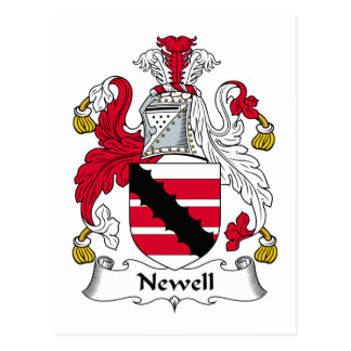 Escudo de la familia de Newell Postales
