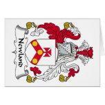 Escudo de la familia de Newland Tarjeton