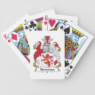 Escudo de la familia de Newman Baraja Cartas De Poker