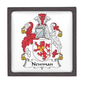 Escudo de la familia de Newman Caja De Recuerdo De Calidad