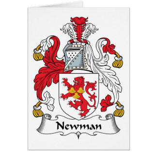 Escudo de la familia de Newman Felicitación