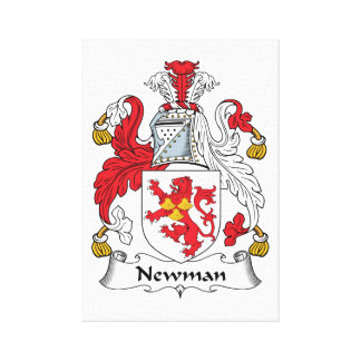 Escudo de la familia de Newman Impresión De Lienzo