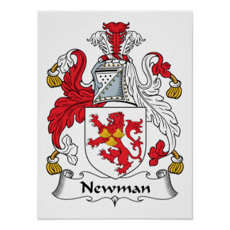 Escudo de la familia de Newman Impresiones