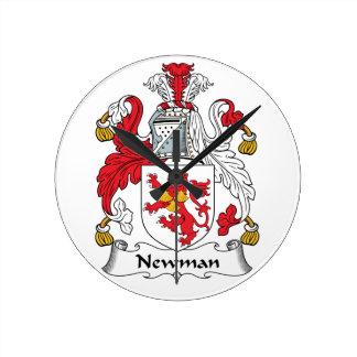 Escudo de la familia de Newman Reloj Redondo Mediano