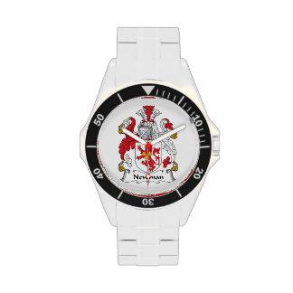 Escudo de la familia de Newman Relojes