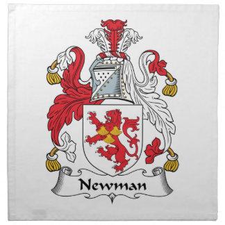 Escudo de la familia de Newman Servilleta De Papel