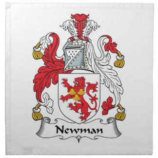Escudo de la familia de Newman Servilletas