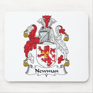 Escudo de la familia de Newman Tapetes De Raton