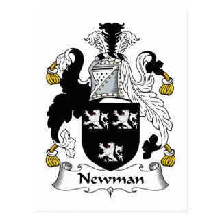 Escudo de la familia de Newman Tarjetas Postales