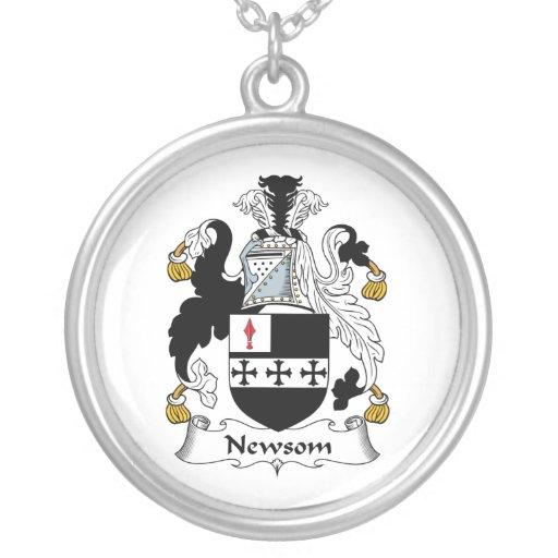 Escudo de la familia de Newsom Colgante Redondo