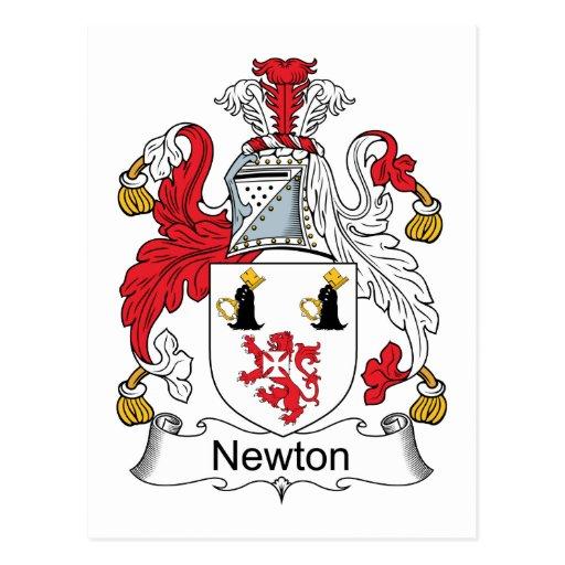 Escudo de la familia de Newton Tarjeta Postal