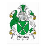 Escudo de la familia de Newton Tarjetas Postales