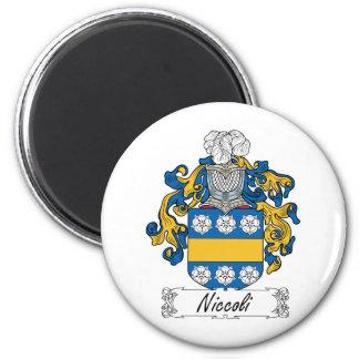 Escudo de la familia de Niccoli Imán Redondo 5 Cm
