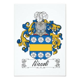 """Escudo de la familia de Niccoli Invitación 5"""" X 7"""""""