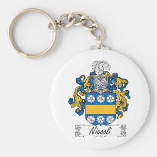 Escudo de la familia de Niccoli Llavero Redondo Tipo Pin