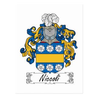 Escudo de la familia de Niccoli Postal