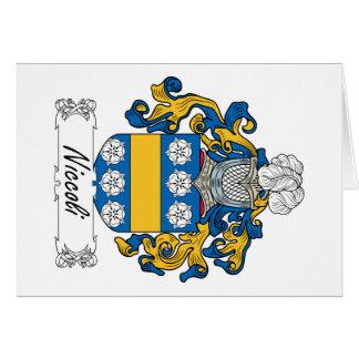 Escudo de la familia de Niccoli Tarjeta De Felicitación