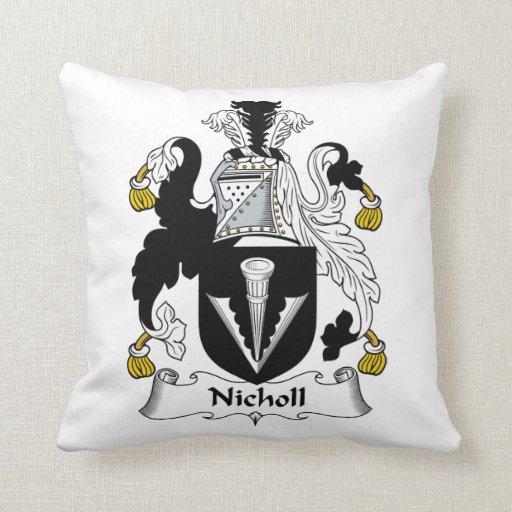 Escudo de la familia de Nicholl Cojín