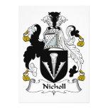 Escudo de la familia de Nicholl Invitación Personalizada