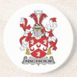 Escudo de la familia de Nichols Posavasos Manualidades