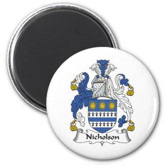 Escudo de la familia de Nicholson Imán Redondo 5 Cm