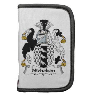 Escudo de la familia de Nicholson Organizador
