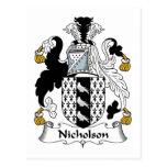 Escudo de la familia de Nicholson Postales