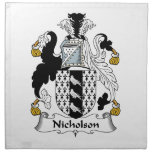 Escudo de la familia de Nicholson Servilletas Imprimidas