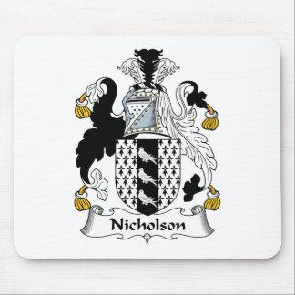 Escudo de la familia de Nicholson Alfombrilla De Ratón