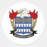 Escudo de la familia de Nickerson Etiqueta