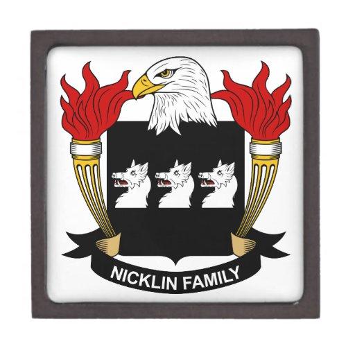 Escudo de la familia de Nicklin Caja De Recuerdo De Calidad