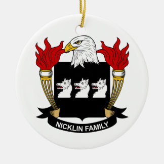 Escudo de la familia de Nicklin Ornamentos De Navidad
