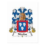 Escudo de la familia de Nicolás Tarjeta Postal