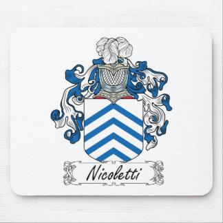 Escudo de la familia de Nicoletti Alfombrillas De Ratones