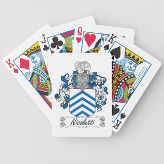 Escudo de la familia de Nicoletti Baraja Cartas De Poker