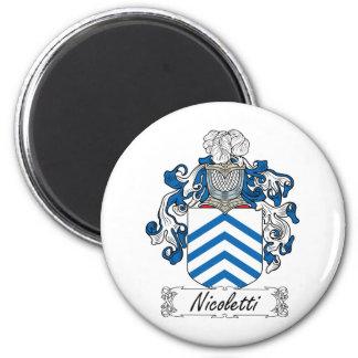 Escudo de la familia de Nicoletti Imán Redondo 5 Cm