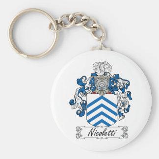 Escudo de la familia de Nicoletti Llavero Redondo Tipo Pin