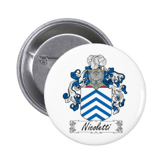 Escudo de la familia de Nicoletti Pin Redondo 5 Cm