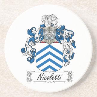 Escudo de la familia de Nicoletti Posavasos Personalizados