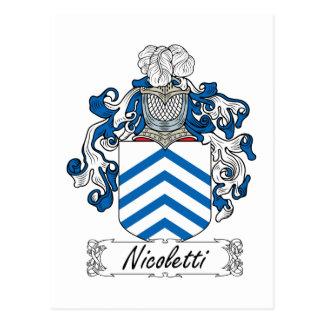 Escudo de la familia de Nicoletti Postal
