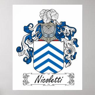 Escudo de la familia de Nicoletti Póster