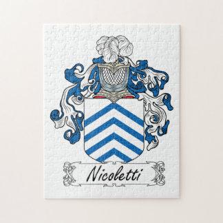 Escudo de la familia de Nicoletti Puzzles