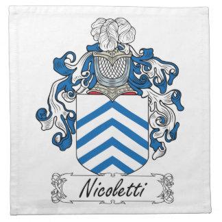 Escudo de la familia de Nicoletti Servilletas De Papel