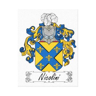 Escudo de la familia de Nicolini Impresiones En Lienzo Estiradas