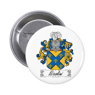 Escudo de la familia de Nicolini Pin Redondo 5 Cm