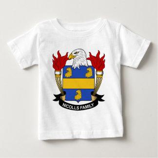 Escudo de la familia de Nicolls Playera De Bebé