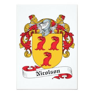 """Escudo de la familia de Nicolson Invitación 5"""" X 7"""""""
